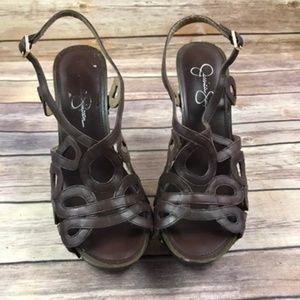 Jessica Simpson Shoes - Jessica Simpson GENAVIV Brown Platform Heels